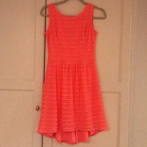 Fluorescent coral Lily Pulitzer skater dress (XS)